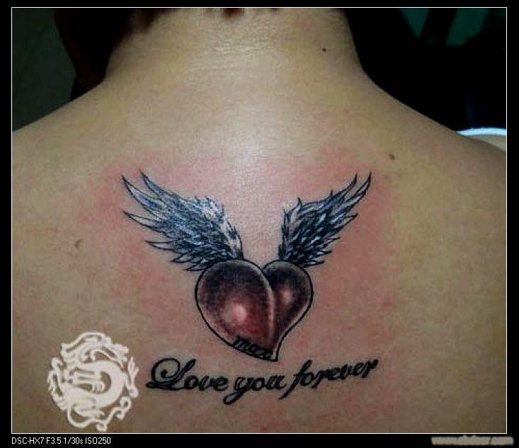 美女后背漂亮莲花纹身图案作品