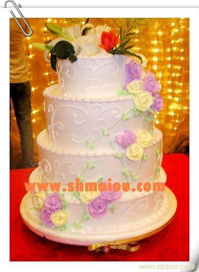 蛋糕编号:hl022-事事如意 四层婚礼蛋糕