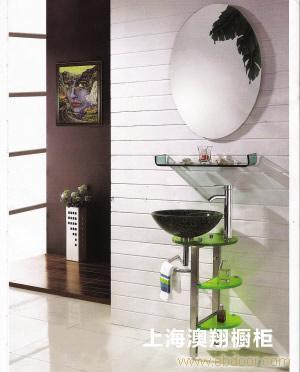 浴柜烤漆门板E1级三聚氢氨刨花板 -上海浴柜厂