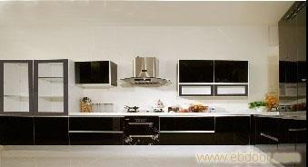 玻璃门板E1级刨花板箱体 上海整体橱柜