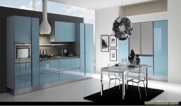 玻璃门板E1级刨花板箱体 橱柜厂家