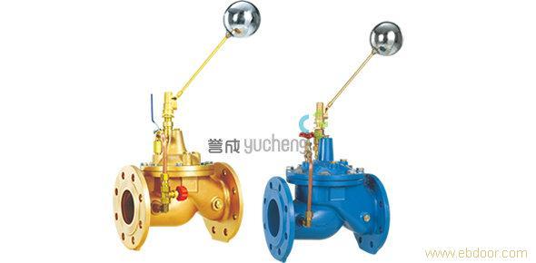 主阀由浮球导阀控制关闭进水口停止供水,当水位下降后,主阀由浮球导阀