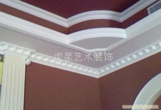 墙角半圆石膏线 墙角石膏线条 石膏墙角线价格 高清图片