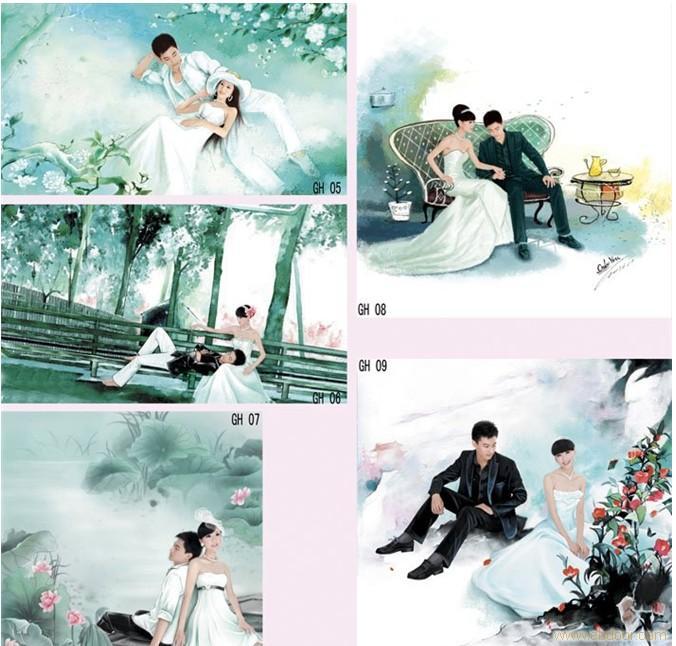 台北香奈儿打造手绘婚纱照