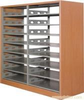 八层双面钢木书架-图书密集架-图书密集架厂家