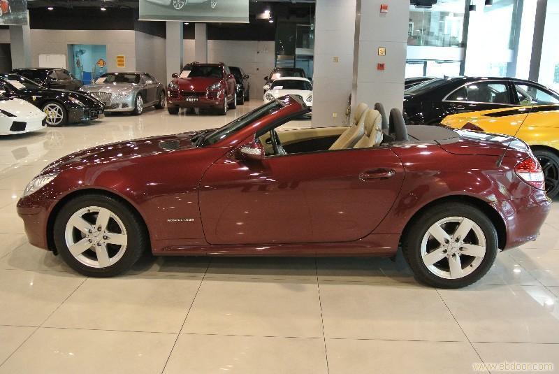 奔驰slk200 红色高清图片