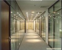 双玻夹百叶隔断 上海玻璃隔断 玻璃隔断施工