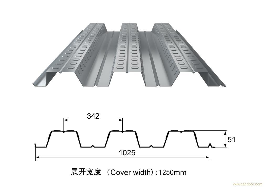 楼承板YX51-342-1025_上海楼承板_开口式楼承板