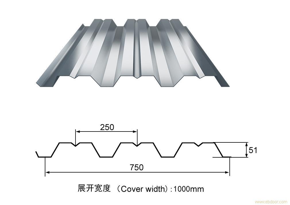 楼承板JCYX51-250-750_上海楼承板_开口式楼承板