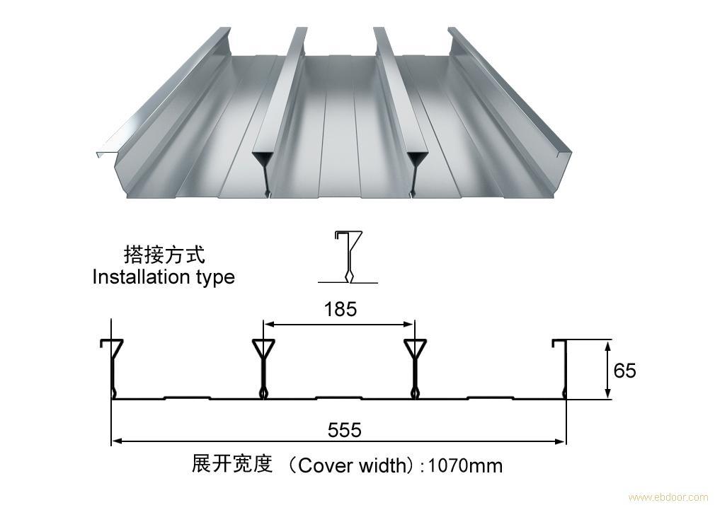 楼承板YX65-185-555_上海楼承板_闭口式楼承板