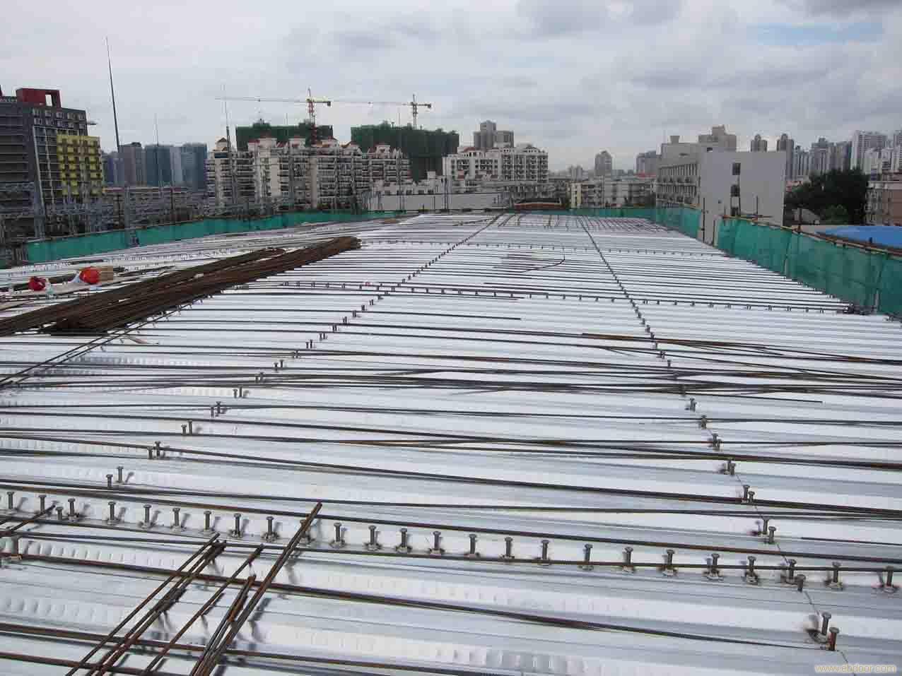 楼承板安装及栓钉的焊接_上海楼承板_楼承板安装