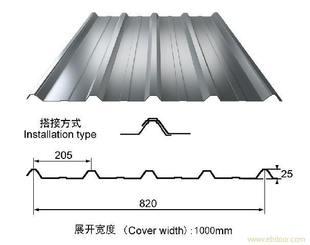 彩钢瓦-820型/1025型_上海彩钢瓦_彩钢瓦厂家
