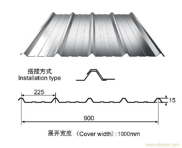 彩钢瓦-900型号_上海彩钢瓦_彩钢瓦