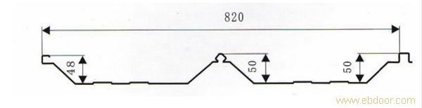 彩钢瓦-角驰III820型号_上海彩钢瓦_彩钢瓦