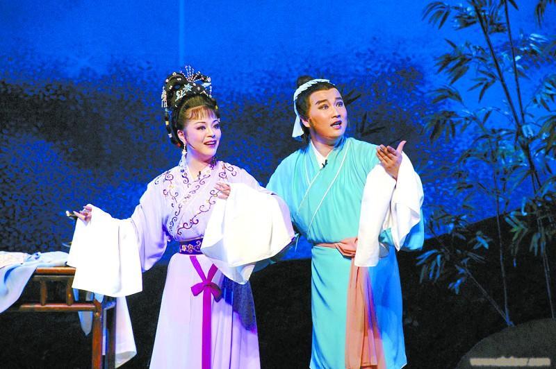 黄梅戏&越剧对唱|梁祝《十八相送》吴琼 何英