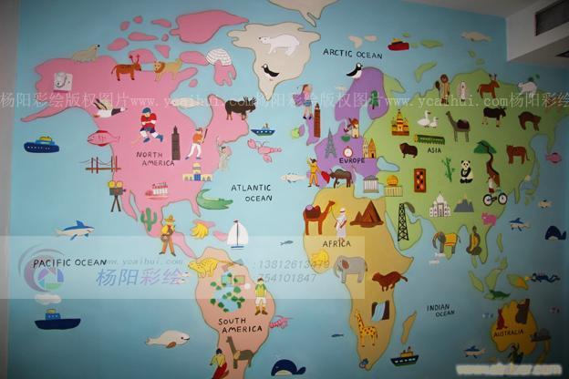 儿童房手绘壁画3  背景墙图片_背景墙效果图_背景墙效果图设计大全图片