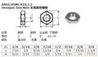 ANSI ASME B18.2.2美规薄型螺帽
