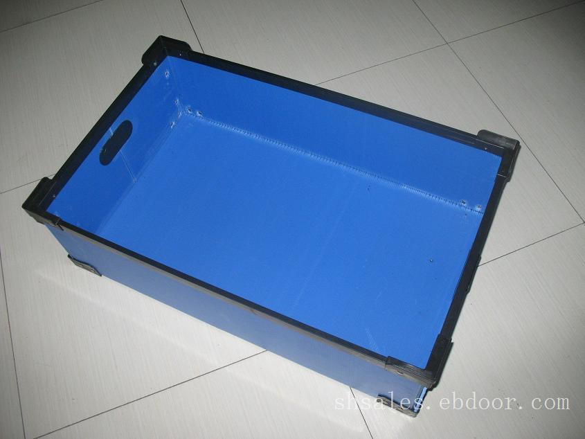 蓝色中空板周转箱厂家直销