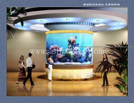 定做鱼缸/海鲜缸/亚克力鱼缸订做/上海大型水族工程承包公司