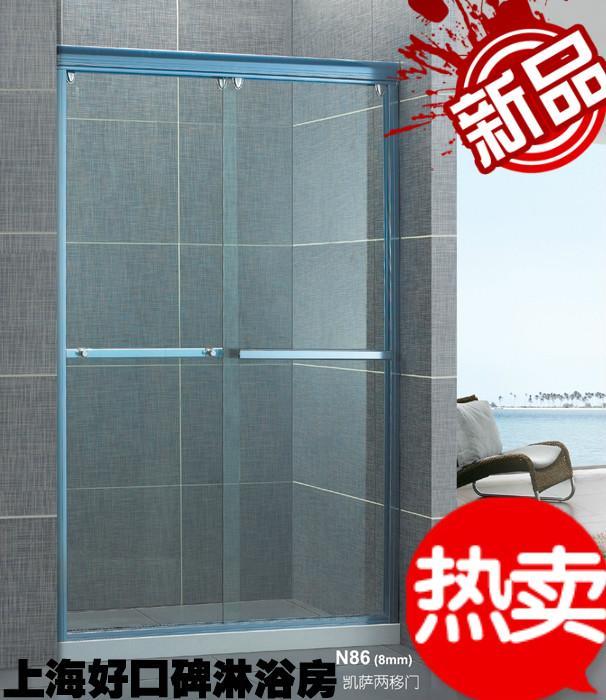 淋浴房卫生间推拉门   供应卫生间挡水玻璃门/洗手间淋浴屏风/高清图片