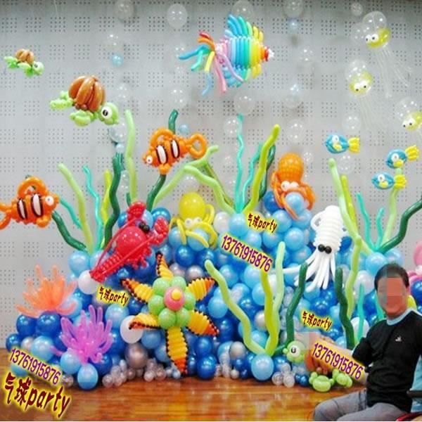 海洋系列气球背景 景观布置气球 海底世界气球造型 上海气球派对