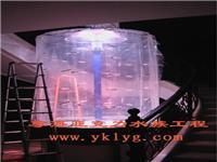 风水亚克力圆柱鱼缸-专业亚克力鱼缸定做厂家