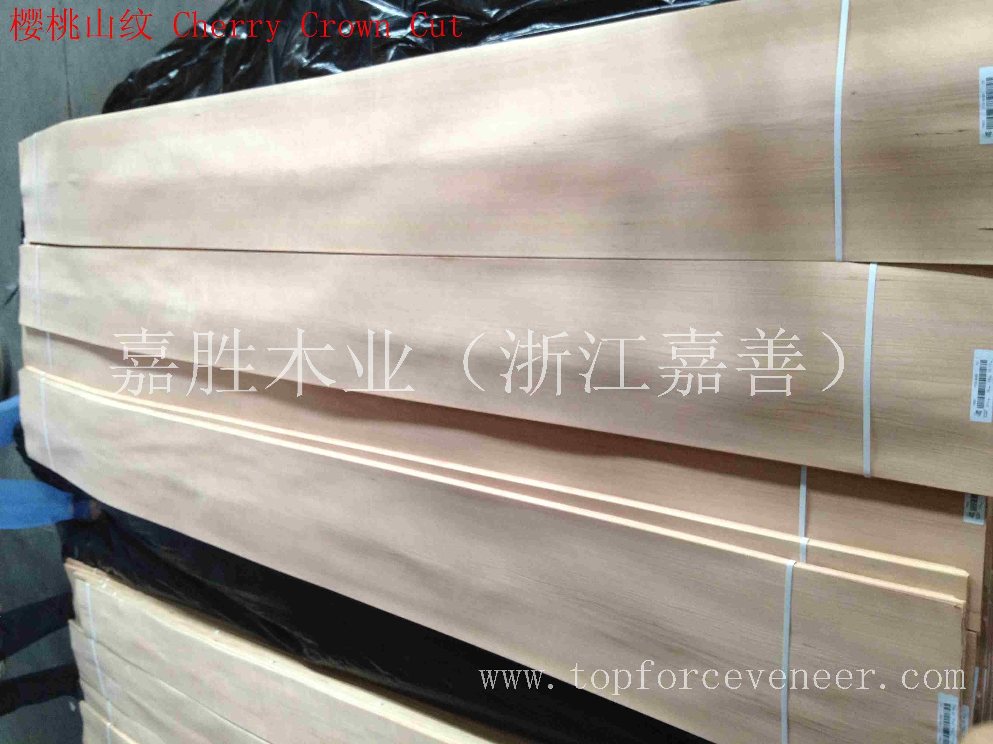 上海美国樱桃小顺花木皮-ShangHai American Black Cherry Cathydral Veneer Architecture Grade 嘉胜木业(