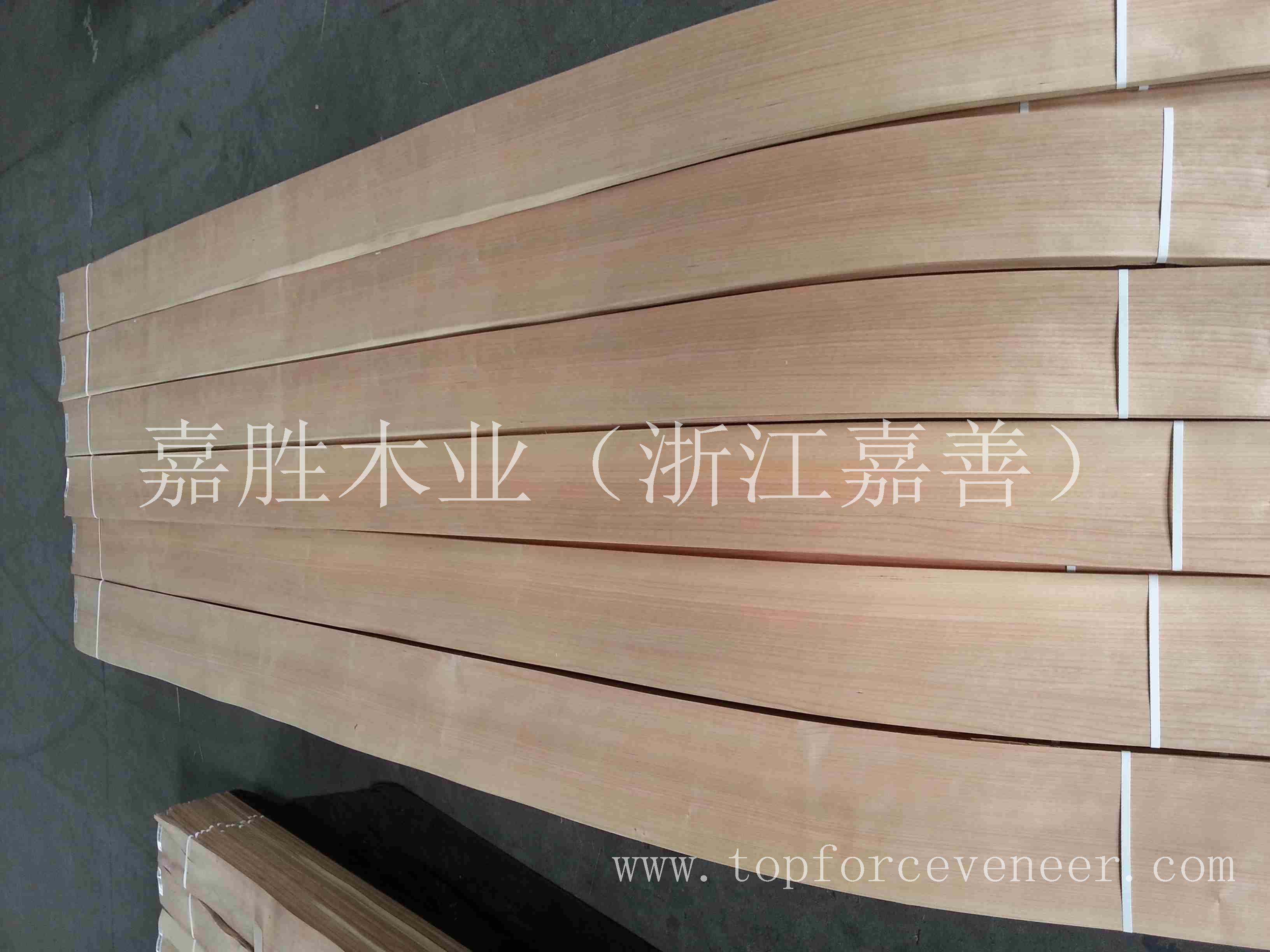 上海美国樱桃直纹木皮AAA-ShangHai American Black Cherry Quarter Cut Veneer 嘉胜木业(浙江嘉善) TOPFORC
