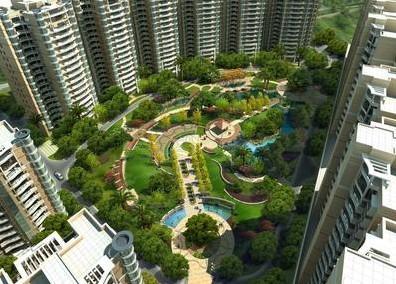 上海园林景观设计公司-高层小区景观竞博电竞官网效果