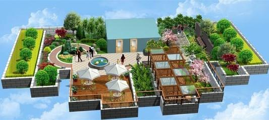 上海景观设计-屋顶花园,屋顶绿化,垂直绿化