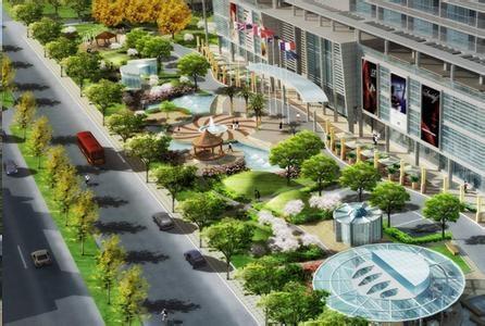 无锡商业街园林景观设计,无锡步行街LOVEBET爱博体育官网设计,无锡街道植物配置