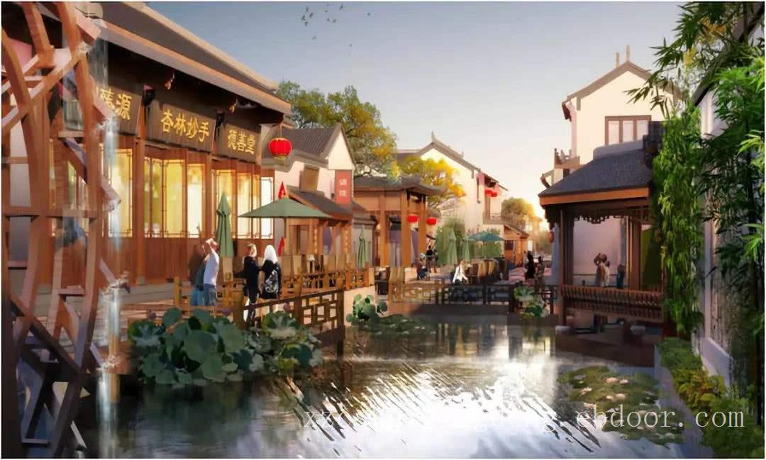 扬州园林公司-商业街LOVEBET爱博体育官网景观,扬州城市街区植物景观