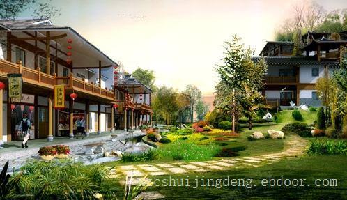 徐州绿化公司-商业街绿化,徐州商业街景观,徐州商业街绿化设计施工