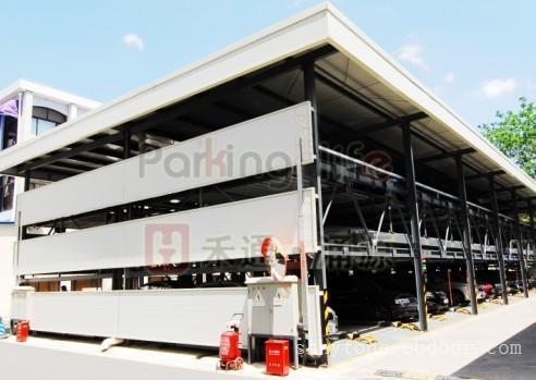 智能立体车库价格_三层升降横移类停车设备