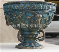 铸铜花钵-铸铜历史人物-铸铜工艺雕塑
