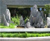 上海假山设计,斧劈石假山