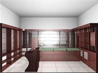 上海服装道具制作_专卖店靠墙柜制作