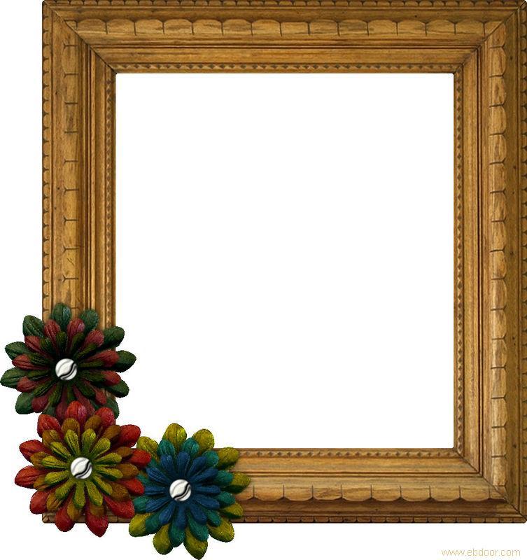 幼儿园手工制作的小清新画框边框展示