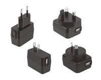 ADP-USB-W2 Series 5W 全球范围USB输出AC适配器