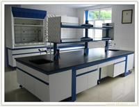 钢木结构中央实验台(一字型拉手) 实验室设备 实验室家具