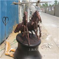 白银饭店铸铜马_ 不锈钢雕塑设计公司