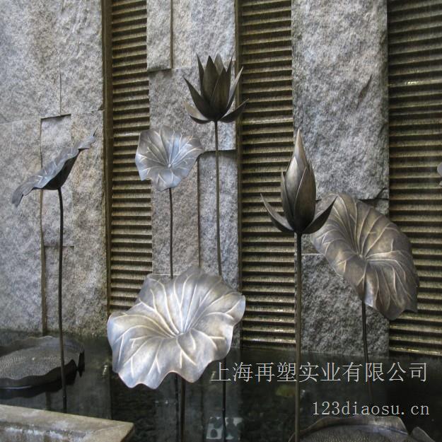 苏州太湖高尔夫酒店大厅铜荷叶