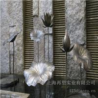 苏州太湖高尔夫酒店大厅铜荷叶_玻璃钢雕塑厂家