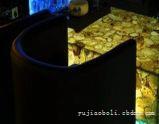 上海玛瑙玻璃背景墙加工