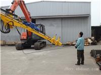 挖掘机改装凿岩机(人工换杆)