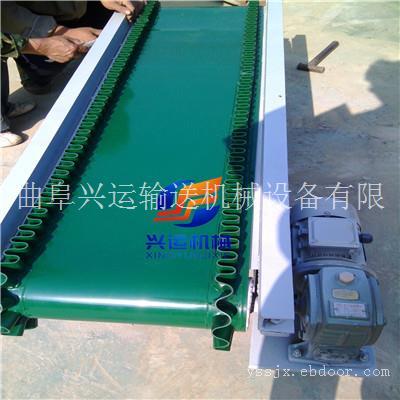 化肥装车专用移动式运输机,河池酒水纸箱皮带输送机,三相电槽型输送机图片