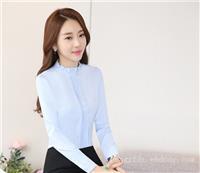 正装女职业装订制套装韩版长袖衬衫定制工作服衬衣女工装订做