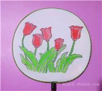 宫扇彩绘艺术表演