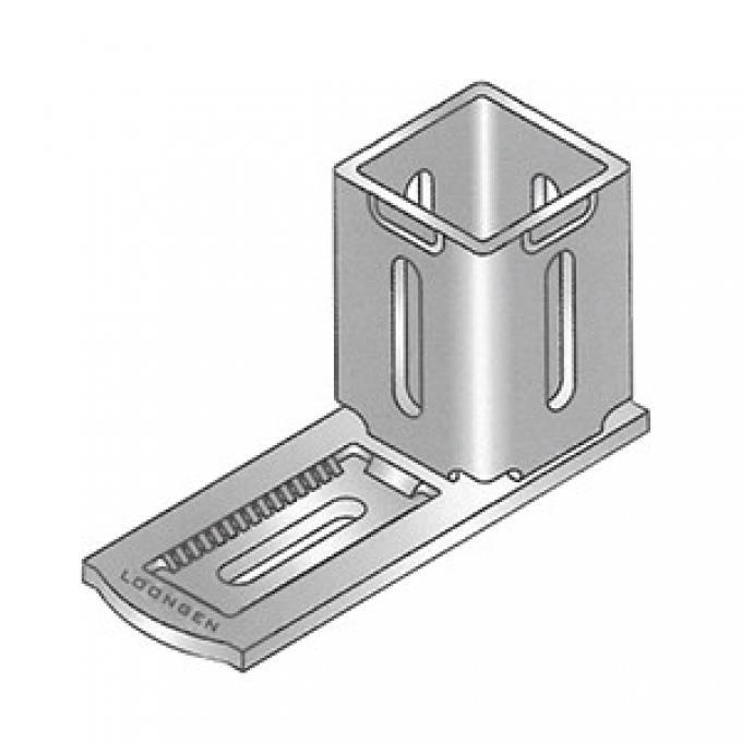 Girder Connector HCB-90/120-U 罗恩重型单孔直角连接件