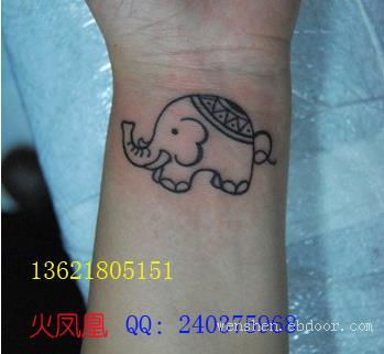 小象纹身图案大全